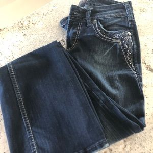 Silver jeans!! Like new